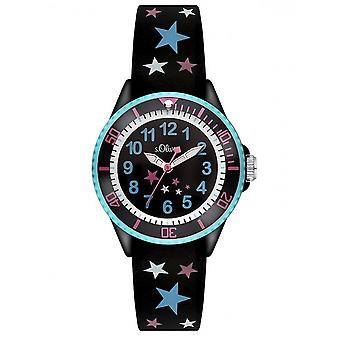 s.Oliver silicone band watch kids SO-3178-PQ
