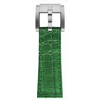 TW Steel Marc Coblen Bracelet Watch band 22 MM Croco leather dark green LB_DG_K_S