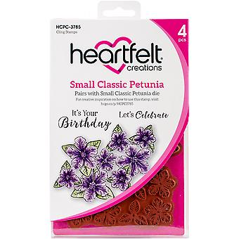 Heartfelt Creations Cling Rubber Stamp Set-Small Classic Petunia .25