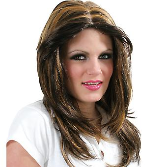 Shania Brown long hair Centre parting
