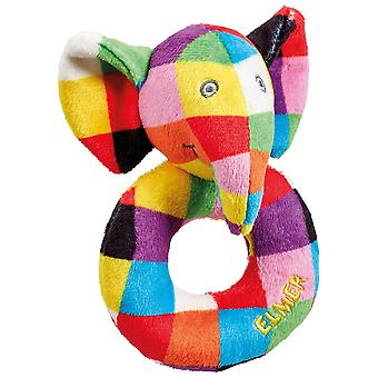 Rainbow Designs Elmer The Elephant Ring Rattle