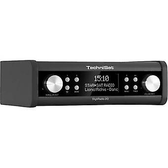 TechniSat DigitRadio 20 DAB+ Kitchen radio, Radio base component AUX, DAB+, FM Black
