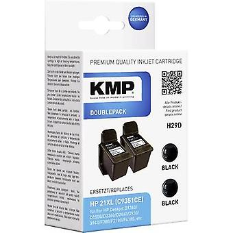KMP Ink replaced HP 21 Compatible Dual Black