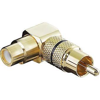 Goobay 11590 RCA Audio/RCA adaptador [1 x enchufe del RCA (phono) - 1 zócalo de x RCA (fono)], negro