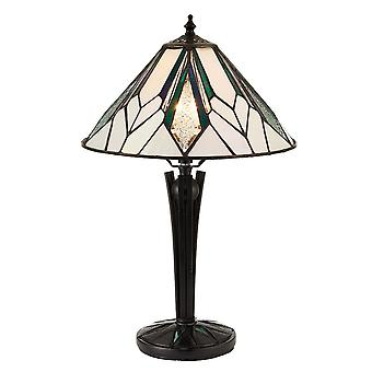 Interiors 1900 Astoria Amber And Green Art Deco Tiffany Table Lamp
