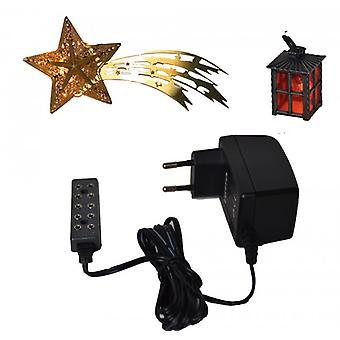 Accesorios de Natividad natividad estable conjunto 3 piezas. Transformador eléctrico linterna Comet