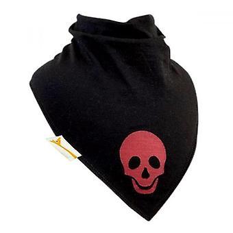 Black & red skull xl bandana bib