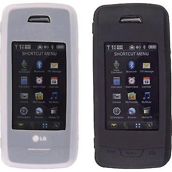 Wireless Solutions Premium Gel Case for LG VX10000 (2 Pack) - Black/White