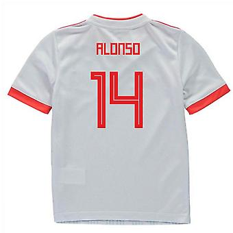 2018-2019 Spagna Away Adidas Mini Kit (Alonso 14)