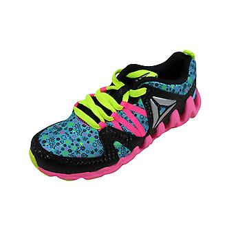 Reebok Zig Big N Fast Fire Naa Black/Blue-Pink Yellow BD1226 Grade-School