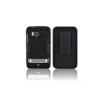 OEM Verizon udvidede Shell hylster for HTC Thunderbolt ADR6400 (sort) (Bulk Pac