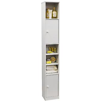 Jamerson - Large Tall Tower Storage Cupboard With Shelves - White