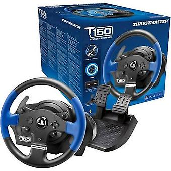 Thrustmaster T150 RS Force Feedback Steering wheel USB 2.0 PlayStation 3, PlayStation 4, PC Black/blue incl. foot pedals