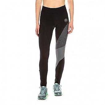 Supersonic Womens WINTER Trail Running Tights Black/Slate