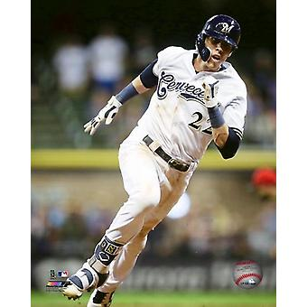 Christian Yelich 2018 Action Photo Print