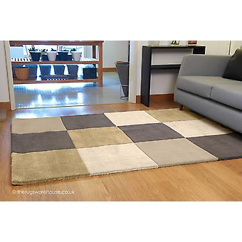 Chequered Earth Rug
