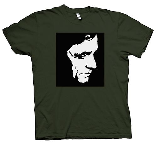 Camiseta para hombre - Johnny Cash - BW - Pop Art - cara