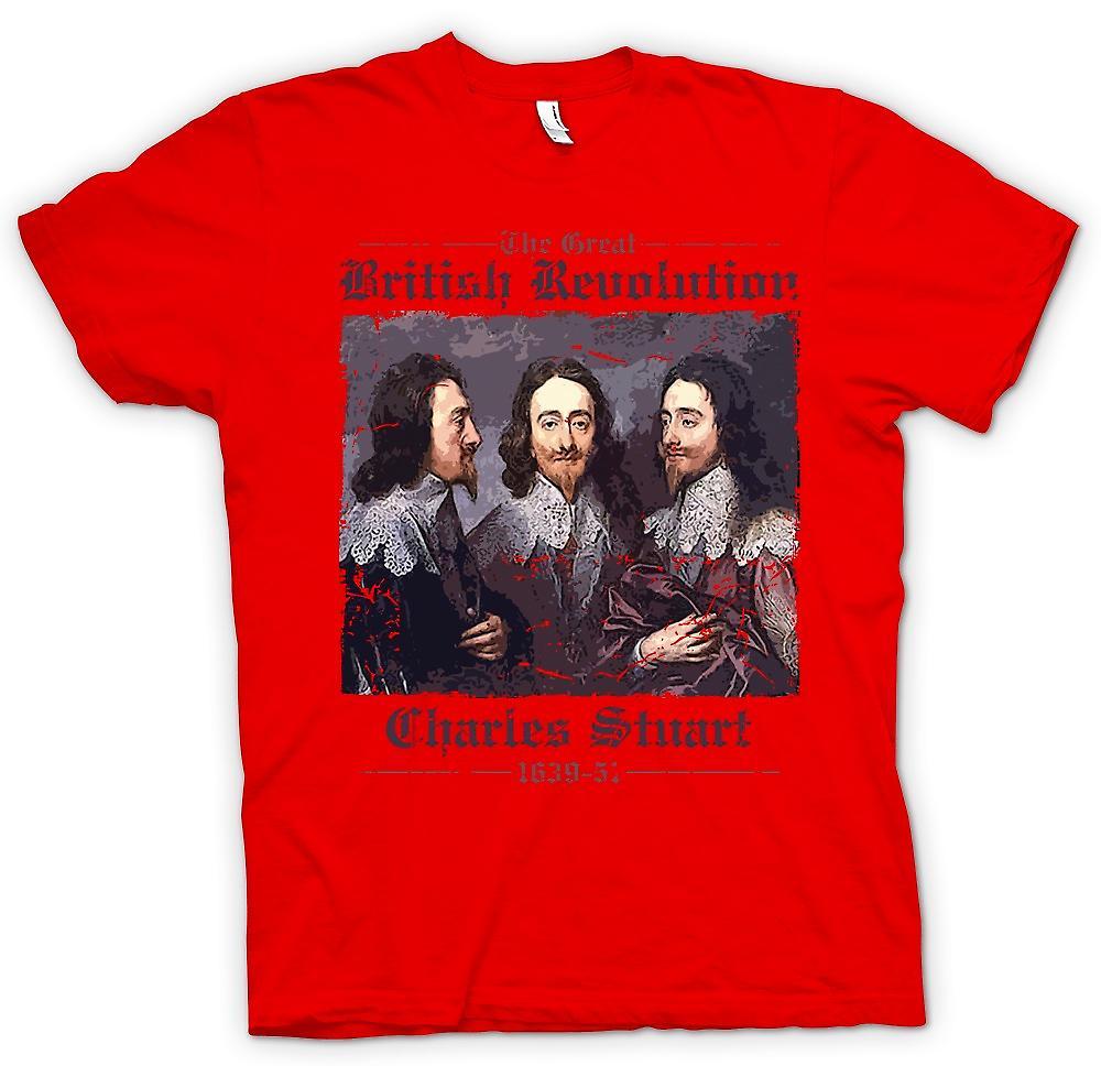 Mens t-shirt - la grande rivoluzione inglese - Charles Stuart