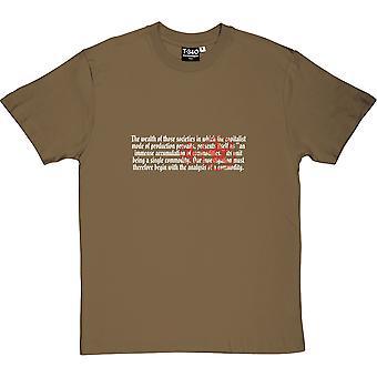 Das Kapital Opening Lines Men's T-Shirt