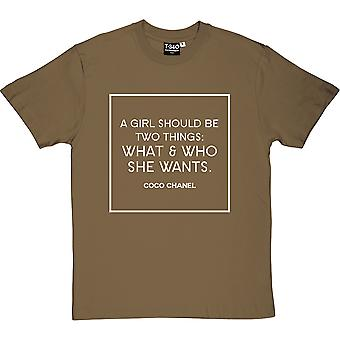 Coco Chanel What & Who She Wants Men's T-Shirt