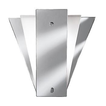 Searchlight 6201 Art Deco Wall Light with mirrored Glass