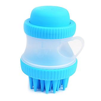 Bath brush made of Silicone with Containers for pets