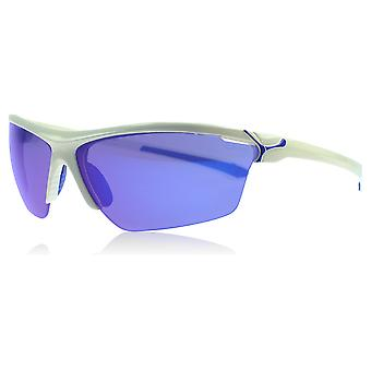 Cebe Cinetik White / Blue Cinetik Wrap Sunglasses Golf, Cycling, Fishing, Driving Lens Category 3 Lens Mirrored Size 70mm