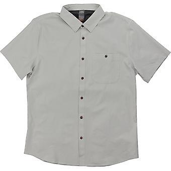 Quiksilver Mens Waterman samling SS Tech skjorta 2 - grå märgel