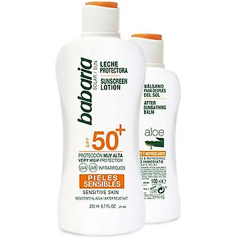 Babaria Milk Sunscreen Sensitive F50 + + After sun