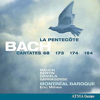 Bach / Mauch, Monika / Bertin, Pascal / Milnes, Eric - Bach: Cantatas for Pentecost - Bwn 68 173 174 [CD] USA import