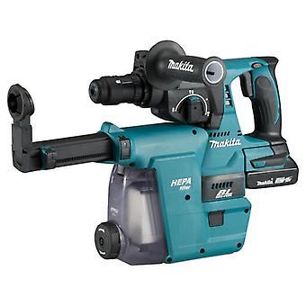 Makita DHR242RMJW 18v SDS Drehhammer + DX06 Staubabzugseinheit