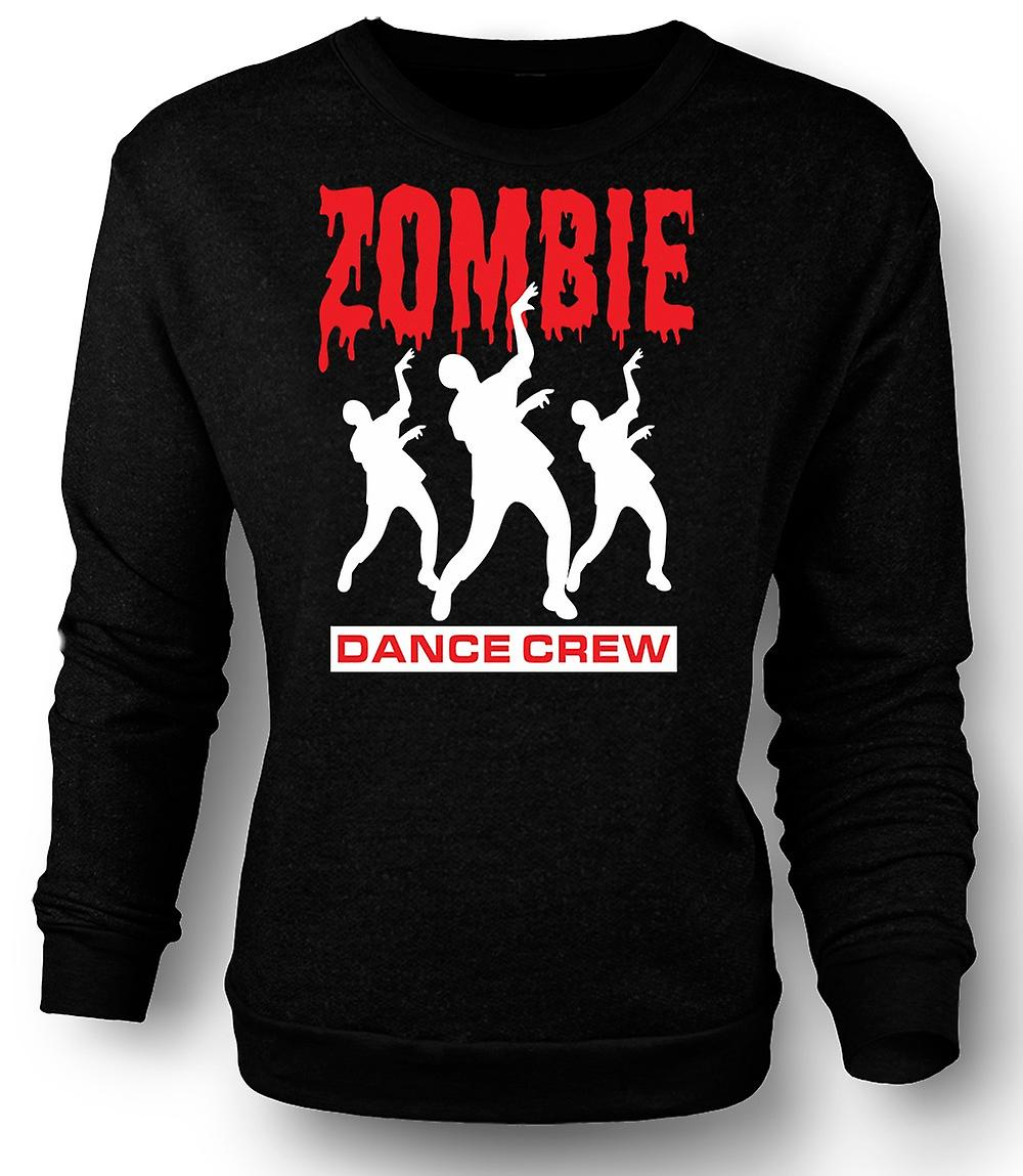 Mens Sweatshirt Zombie Dance Crew - Funny Horror