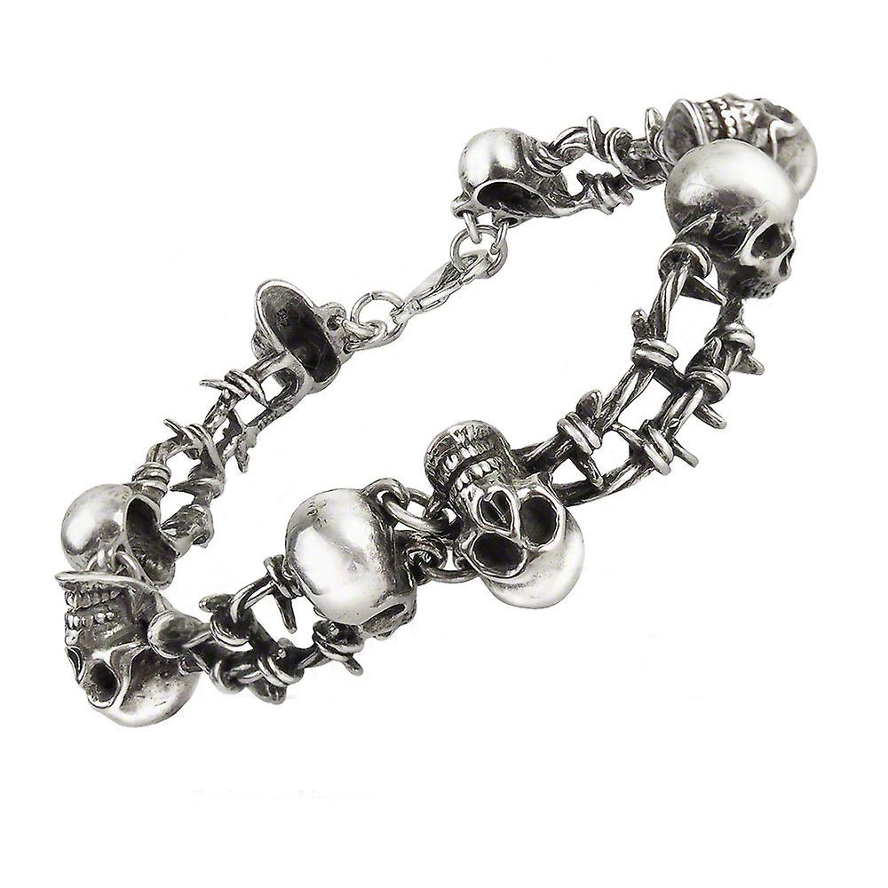 Alchemy Gothic No Man's Land Barbed Wire Skull Bracelet
