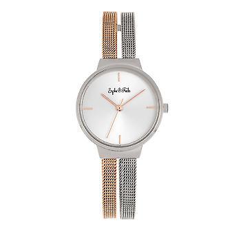 Sophie and Freda Sedona Bracelet Watch - Silver/Rose Gold