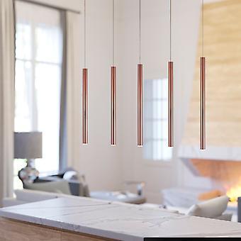 Ceiling Light Pendant Lamp Industrial Black Chandelier 5 Pendant Rectangular Canopy