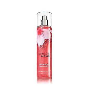Bad & lichaam werkt Japanse Cherry Blossom Diamond Shimmer mist 8 oz/236 ml