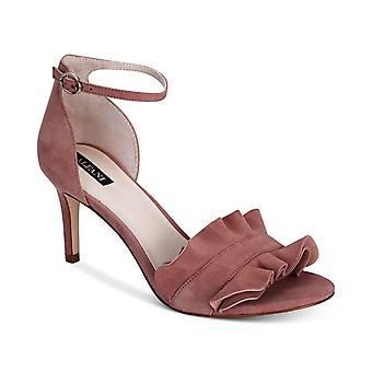 Alfani Womens Grayy Leather Open Toe Formal Ankle Strap Sandals