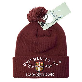 Licenciado cambridge university™ pom pom gorro de esquí color granate