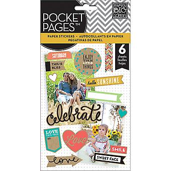 Me & My Big Ideas Pocket Pages Clear Stickers 6 Sheets Pkg Smile Pps 06