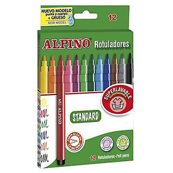 Alpino 12 Rotuladores Alpino (Kids , School Supplies , Writting And Coloring , To Colour)