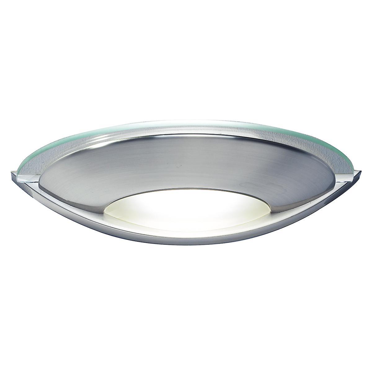 Dar VIA0746 Via Modern Single Wall Light With A Satin Chrome Finish