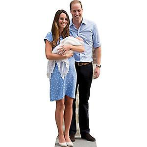 Kate - William og Baby Cambridge Lifesize papp åpning