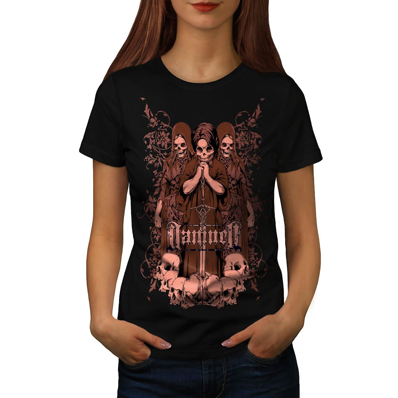 Damned Ghost Hell Horror Child Women Black T-shirt | Wellcoda