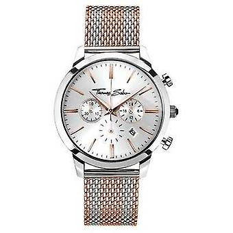 Thomas Sabo Mens Rebel Spirit Chronograph Rose Gold WA0287-283-201-42 Watch