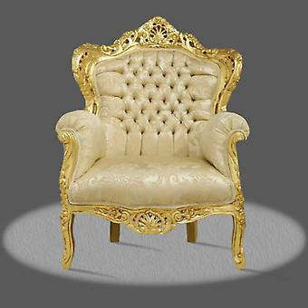 baroque armchair carved louis pre victorian antique style rococo NkCh0500GoBgOr