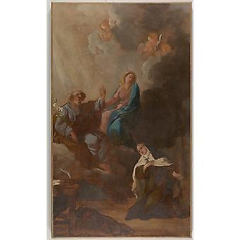 "The Virgin Placing St Teresa of Avila Under the Protection of St Joseph Poster Print by François Guillaume Ménageot (French London 1744  ""1816 Paris) (18 x 24)"