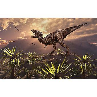 Tyrannosaurus Rex kongen av alle dinosaurene plakatutskrift