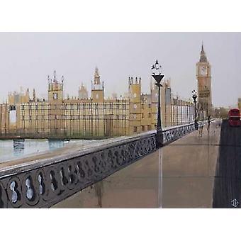 Big Ben Landscape Poster Print by PS Art Studios