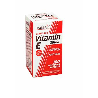 Health Aid Vitamin E 200iu Natural ,  100 Vegicaps