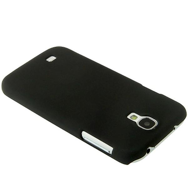 Black hard case cover for Samsung Galaxy S4 i9500 i9505 LTE + foil